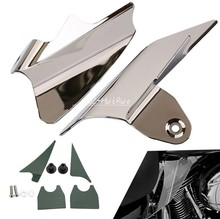 Reflective Chrome Saddle Shield Air&Heat Deflector Fit For Harley Electra Glides EFI