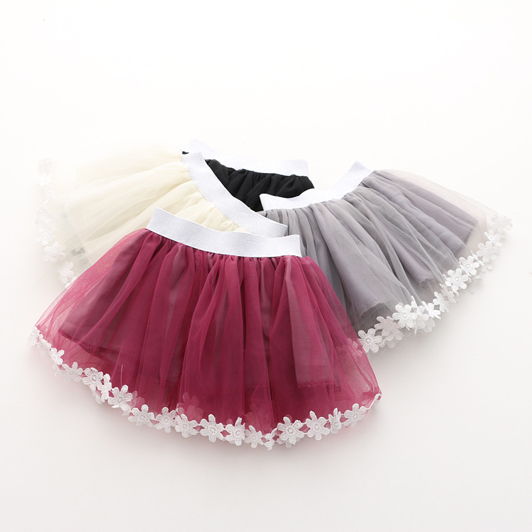 2016 Summer New Korean Girls Lace Trim Skirts 2-7 Years Princess Skirt Clothing for Children Wholesale<br><br>Aliexpress