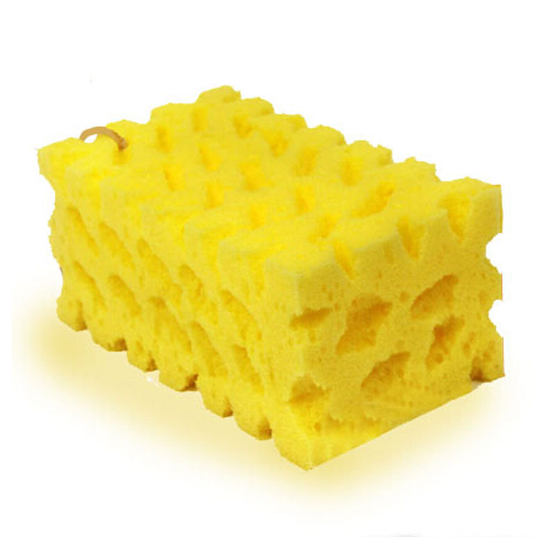 2pcs/lot Portable Car Cleaning Sponge Honeycomb Coralline Auto Washing Spongia Spongie Car Care Cleaner Tools Yellow(China (Mainland))