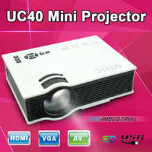 UC40+ projector PLUS upgrade version With VGA Port Mini Pico portable proyector  AV USB & SD With HDMI Projector Beamer(China (Mainland))