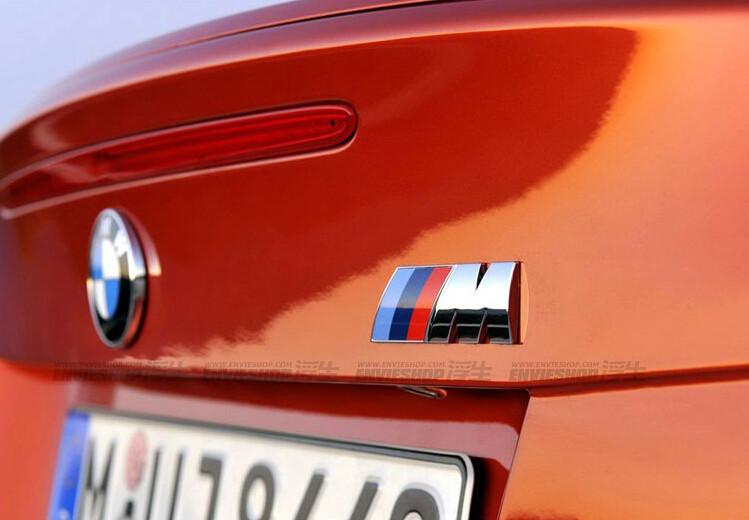 M power Series Metal Logo Sticker Emblem Badge Chrom 1 3 4 5 6 7 E