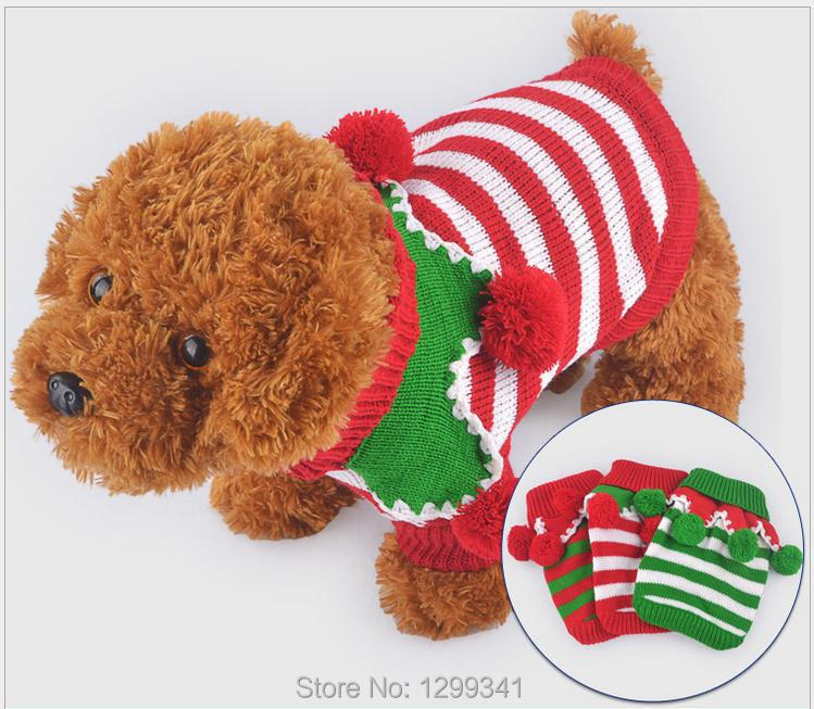 Puppy Sweaters/Christmas/Universal/Size:XS~XL/Length:18-40cm/Girth: 28-54cm/Weight:100g-170g/3 Patterns/Free Shipping/Wholesale(China (Mainland))
