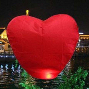 10pcs/lot Heart Shape Hot Air Balloon Paper Wishing Sky Lanterns For Wedding Party Valentine's Day Decoration (Mix Colors)(China (Mainland))