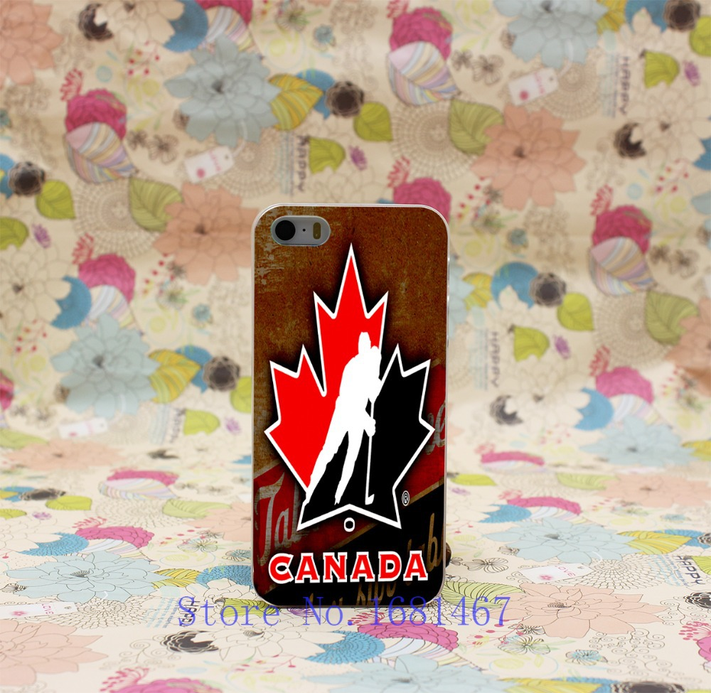 3T- hockey canada Style Hard Clear Back Cover Transparent Case for iPhone 5 5s 5g(China (Mainland))