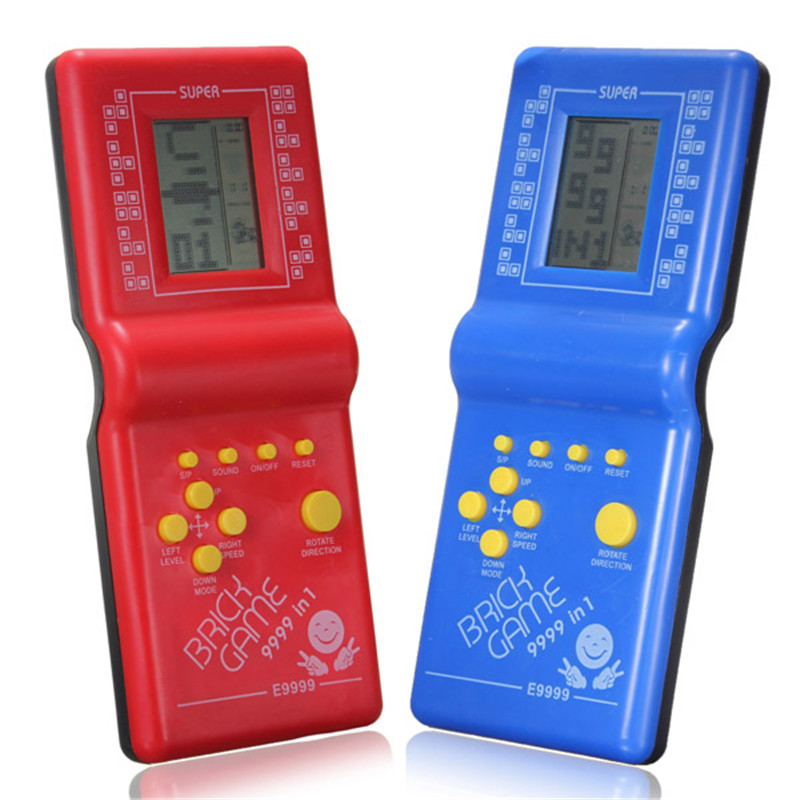 Top Selling Tetris Brick Handheld Game Toy For Kids Hand Held LCD Electronic Game Toys Fun Brick Game Riddle Educational Toys(China (Mainland))