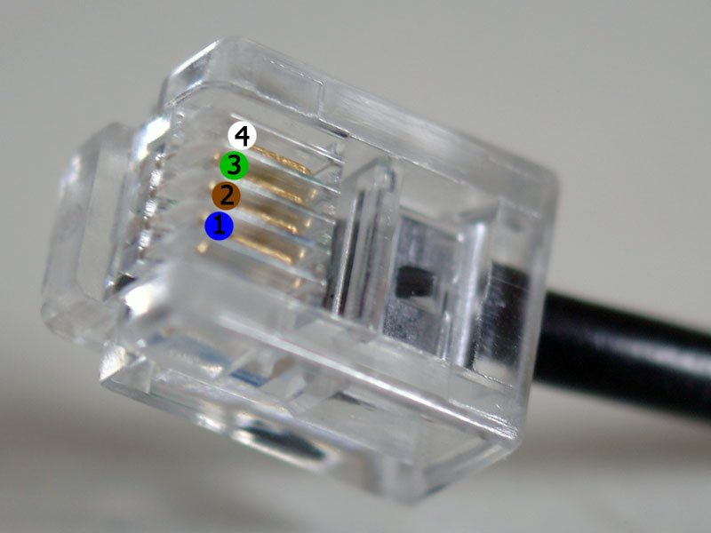 rj splitter picture more detailed picture about durable pin durable 4 pin rj11 rj 11 6p4c modular plug telephone phone connector hot