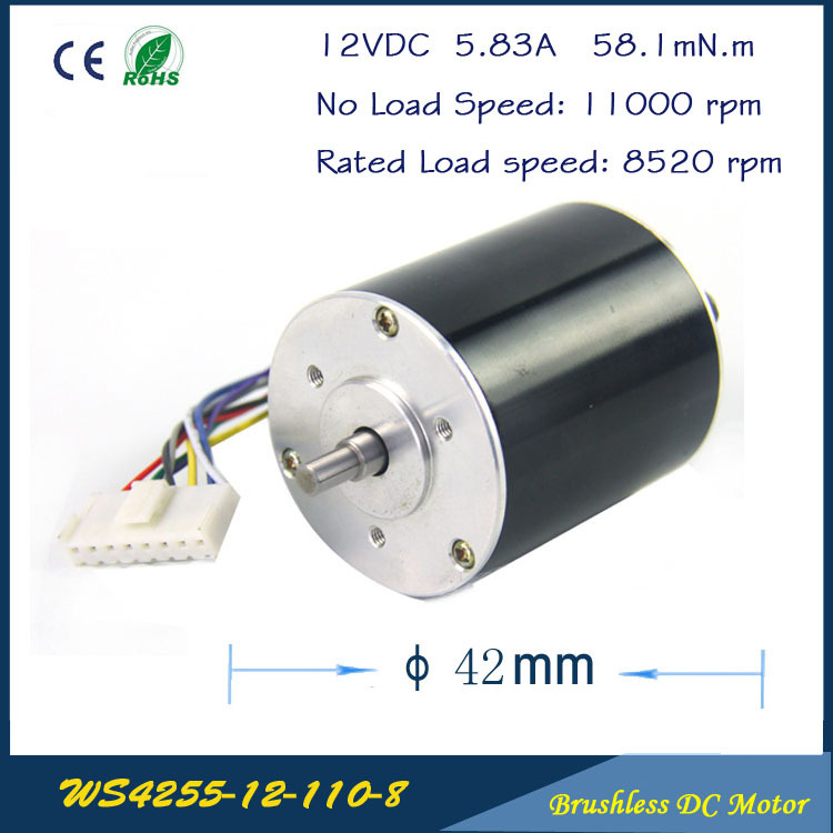 11000rpm 67w 12v 42mm 55mm 3 phase hall brushless for High speed brushless dc motor