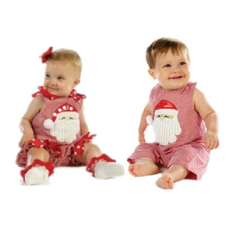 New 2015 Christmas Costumes Baby Girl Boy Cotton Romper Summer Jumpsuit Kids Overalls Newborn Infant Clothes Bebe Clothing Wear(China (Mainland))