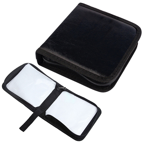 2015 New 40Pcs CD VCD DVD Discs Faux Leather Organizer Holder Case Wallet Storage Bag 1VD8<br><br>Aliexpress