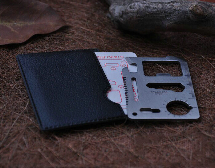 1 pcs Camping Multipurpose tool 11 in 1 Multifunction Card Knife Pocket Survival Tool Outdoor Survivin