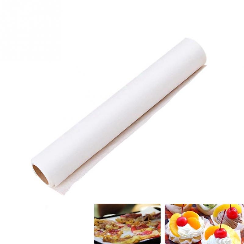 New High Quality 5M Parchment Paper Silicone Baking Mat Pad Roll Wax Non Stick Kitchen White(China (Mainland))