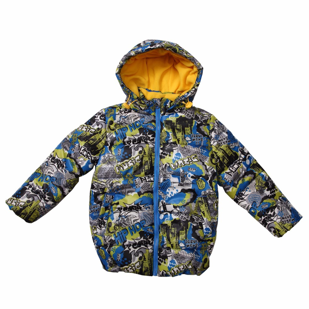 PCORA Kids Boys Coat Winter Thick Hooded Zipper Closure Cotton Padded Jackets 3T~10T Boys Keep Warm Clothes 2 Colors Available