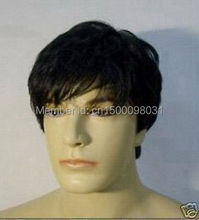 FREE P&P>>>>>hot selling!!! healthy short black hair men's wig