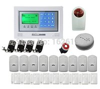 DHL freeshipping Home security wireless GSM alarm system GSM network with 4 wired 100 wireless zone Burglar