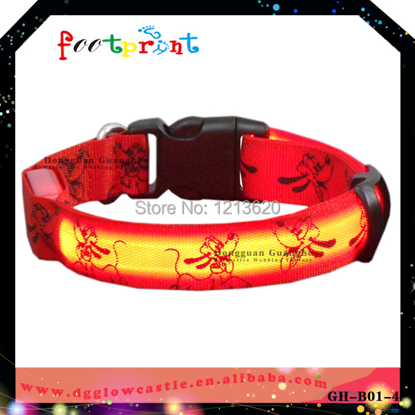 Double site light up collar Light emitting collar for pet Pet accessory product with lovely picture(China (Mainland))