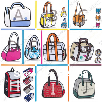 Free Shipping [  14 styles to choose]   The 3D Bags Gismo Cartoon Bag
