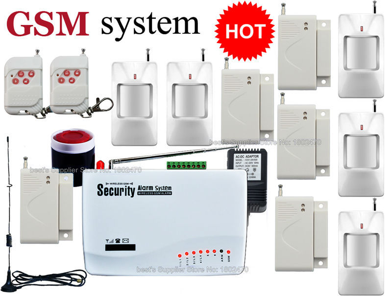 Wireless Alarm Systems Security Home Sensor GSM Alarm System Auto Dialing Dialer SMS Call(China (Mainland))