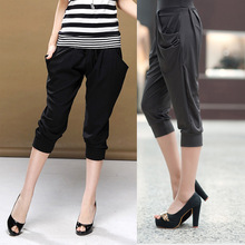 big yards spring and summer large size pants plus fertilizer to increase significantly thin knit pants harem pants 0595(China (Mainland))