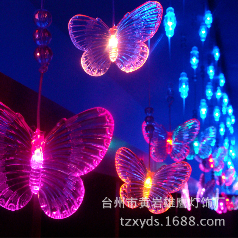 the product of cross-border electricity supplier LED lights flash KTV light bar room decorative butterfly curtain lamp(China (Mainland))
