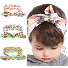Buy Kids Flower Floral Hairband Turban Rabbit Bowknot Headband Headwear Hair Band Accessories kt-060 for $1.01 in AliExpress store