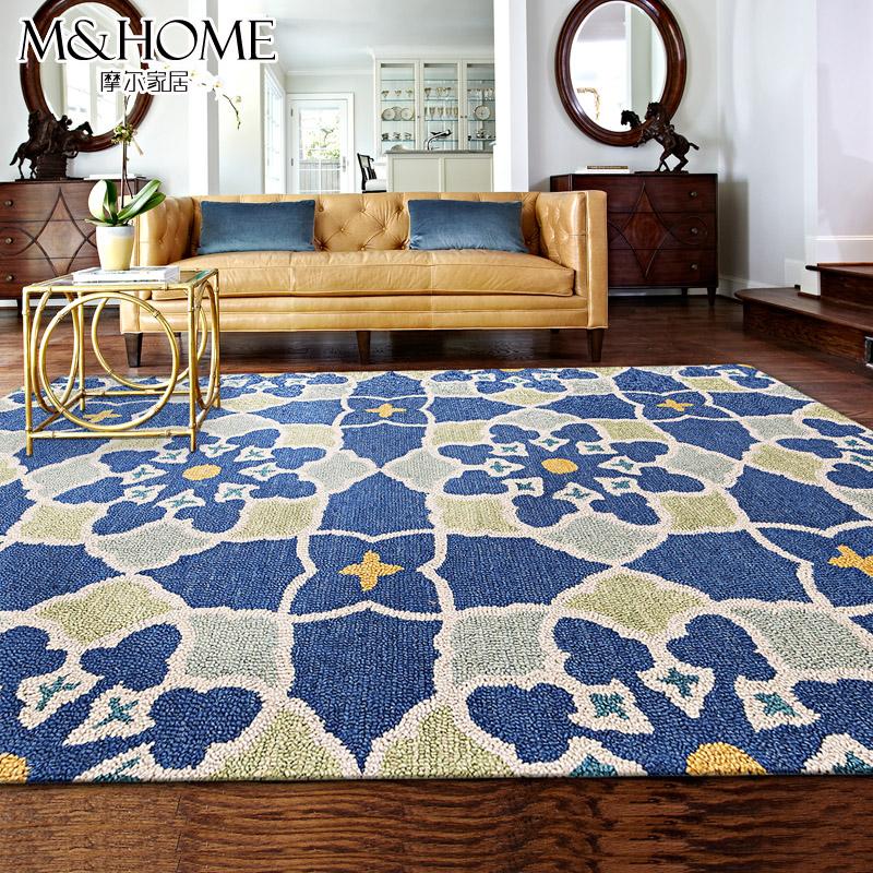 Pure wool handmade living room carpet original fashion american rustic fashion bed blankets 152cm*228cm(China (Mainland))