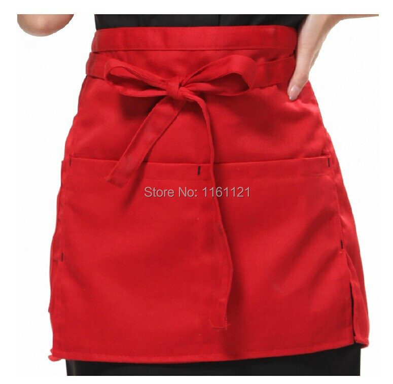 2015 Hot Sale Real Sushi Chef Uniform free Shipping Women's Kitchen Cooking Apron Home Restaurant Uniform Half Cut Length Color(China (Mainland))