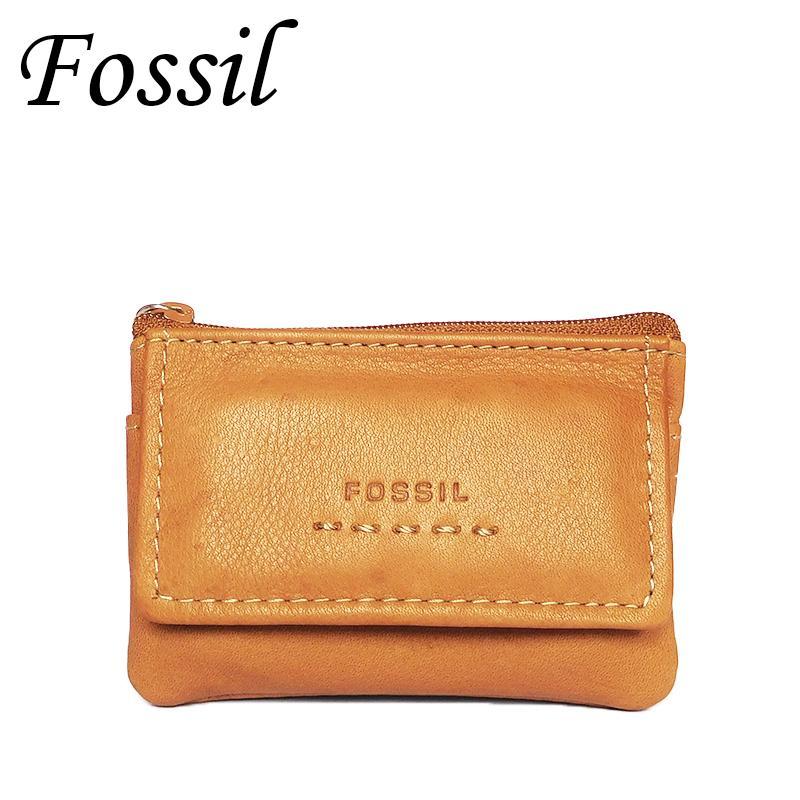 Гаджет  Brand Fossil Leather Key Wallet for Women,Soft Cowhide Key Holder,Fashion Brown Key Bag Lady,Geunine Leather Key Pouch None Камера и Сумки