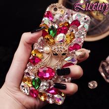 Bling crystal Diamond fox Coque Case Huawei honor 7 8 4A 4C 5A 5C V8 6 5X P7 P8 P9 lite Plus G7 G8 Mate fundas carcasa - CheerPrice store