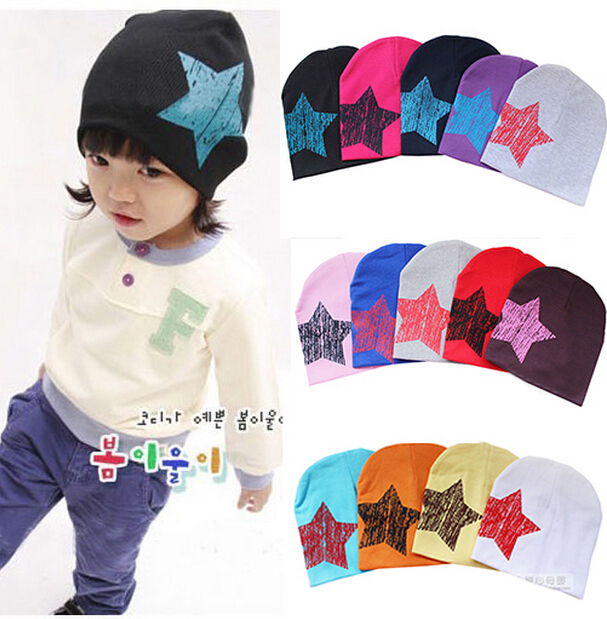 2015 New Unisex Baby Boy Girl Toddler Infant Children Cotton Soft Cute Stars Hat Cap Beanie(China (Mainland))