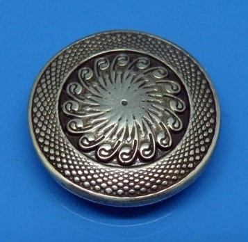 1''(25mm) Metal Concho Leather Craft Antique Silver Finish Decorated Concho Antique Silver Pattern(China (Mainland))