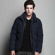 New warm winter jacket men stand collar 90 white duck down jacket business thicken piumino uomo inverno high quality(China (Mainland))