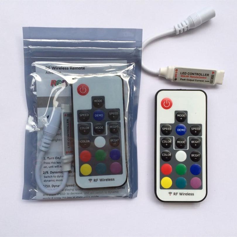 1pcs dc12v 24v 3 channel 6a rf wireless mini rgb led remote controller to control led strip smd 5050 lighting(China (Mainland))