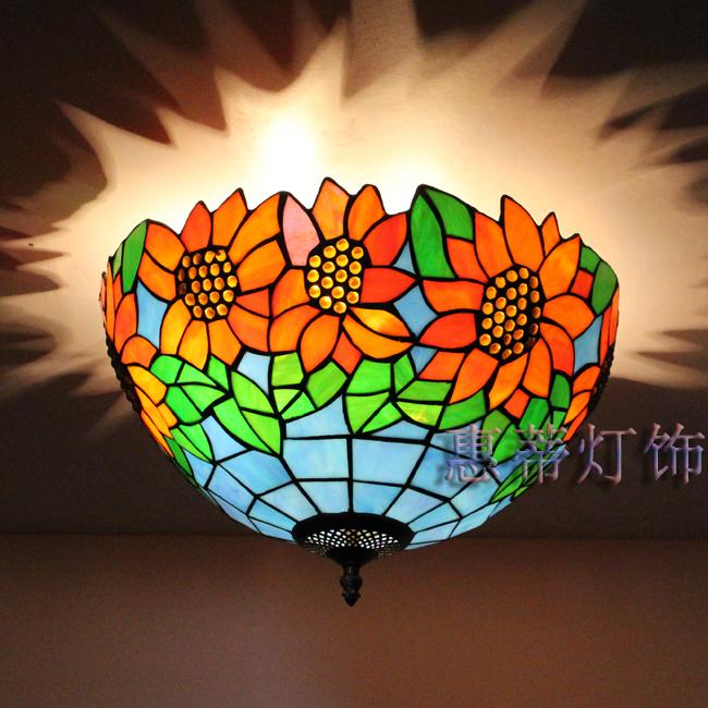 Здесь можно купить  Tiffany lamps retro nostalgia sunflowers European style ceiling light fixture to the pastoral  Строительство и Недвижимость