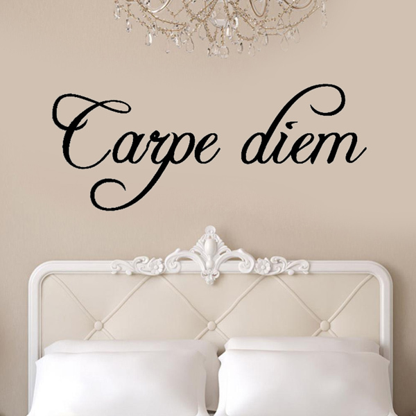 carpe diem wall stickers kitchen decoration mural wall say With kitchen colors with white cabinets with carpe diem wall art