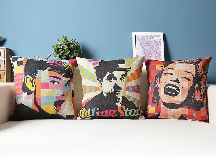 Pop celebrity  Nordic  Modern minimalist cotton Cushion  Linen Pillow   home decorate sofa cushions