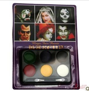masquerade Halloween supplies pigment clown face paint fans color demon ghost - red wing's store
