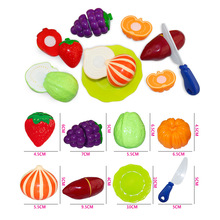 Hot Sale Pretend Play Educational Toy For Kids Children Cutting Food Toy 8pcs/set Kitchen Accessories Toys(China (Mainland))