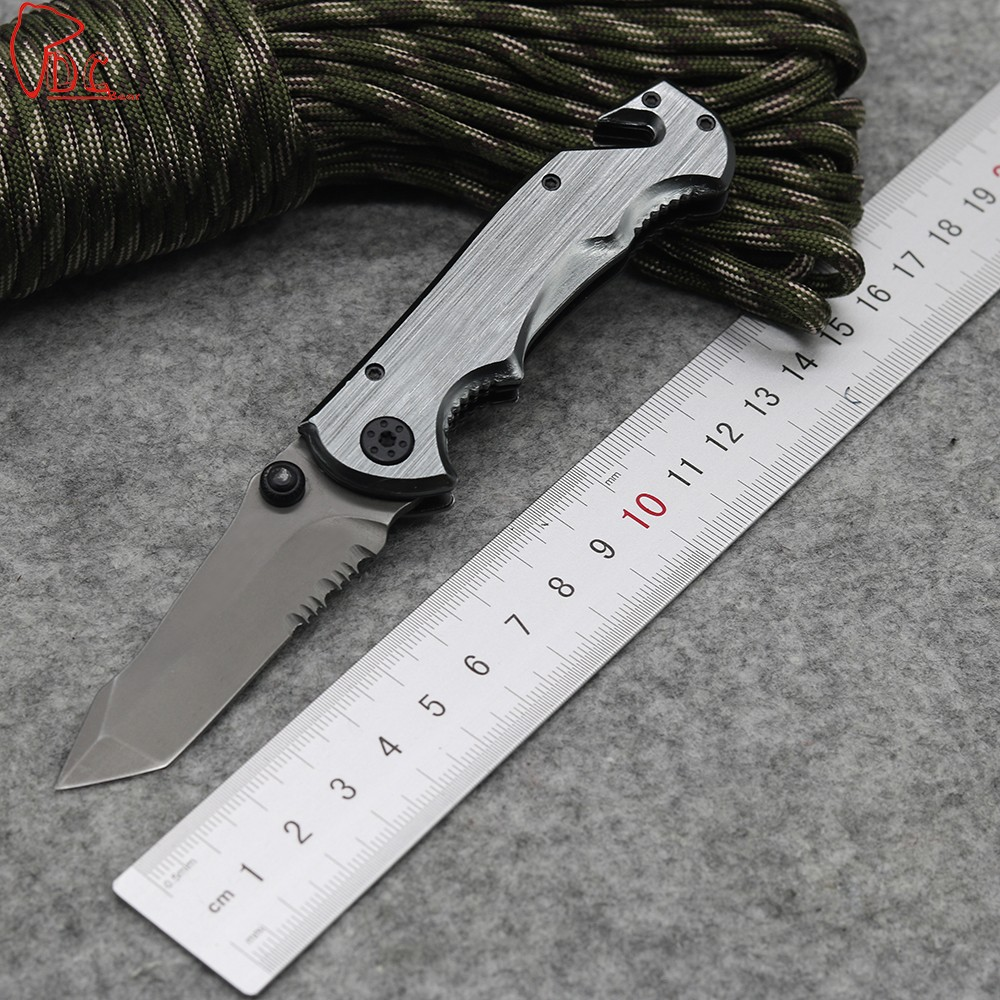 Buy Dcbear New Arrival  Folding Knife 440C Steel Blade Outdoor Tools Hunting Survival Knives Tactical Knife Rescue Tool FB031# cheap