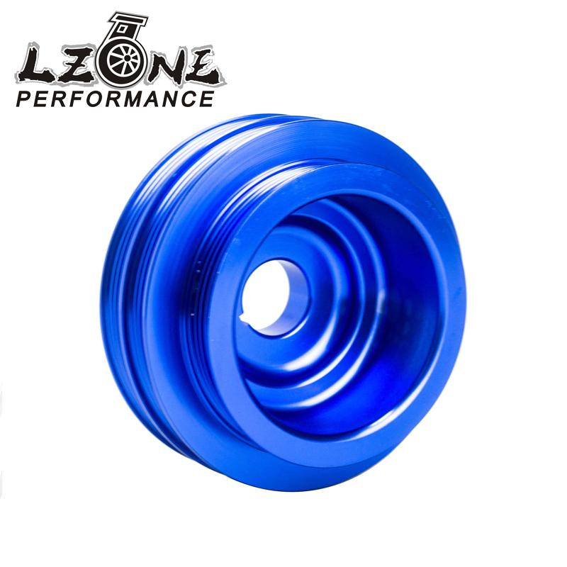 LZONE RACING Lightweight Crank Pulley For Honda B16 B18 Engine For Civic Accord Blue