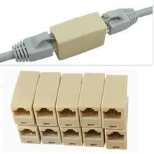10pcs RJ45 CAT5 Coupler Plug Network LAN Cable Extender Connector Adapter New(China (Mainland))