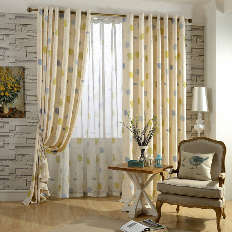 Free Shipping Readymade Curtain Children Bedroom Linen