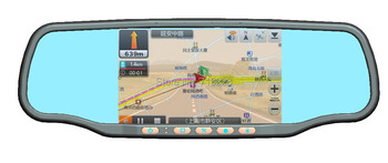 Newest capacitor Touch LCD Screen Car rearview mirror GPS+HD 1080P DVR+ radar detector+bluetooth+Parking camera+free DHL EMS