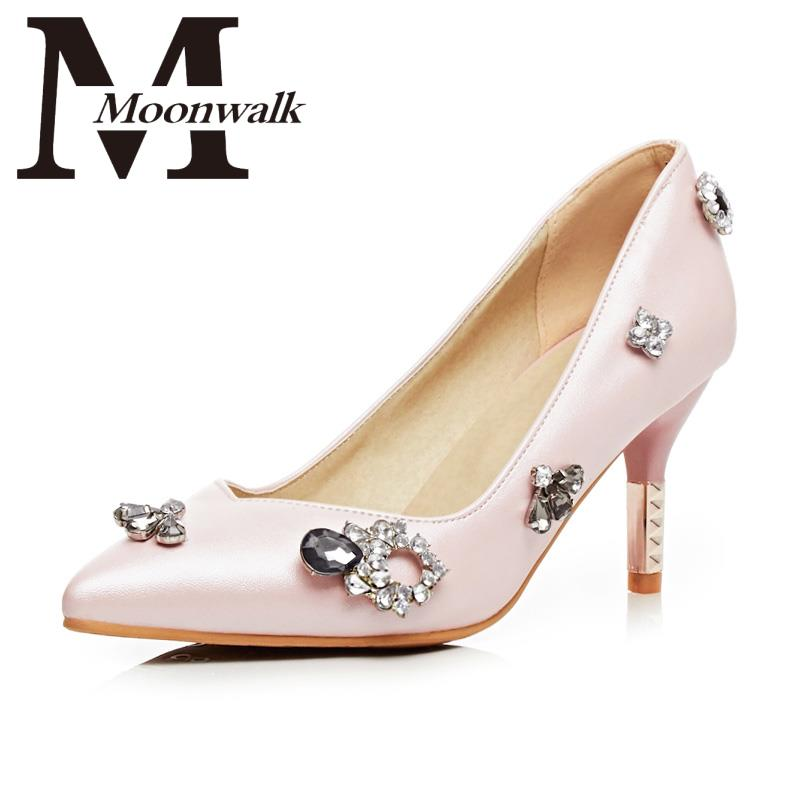 Womens Sexy Party High Heels PU Appliques Pointed Toe 2016 New Brand Arrival Fashion Shoes Woman Blue Pink Size34-43 Z1291J<br><br>Aliexpress