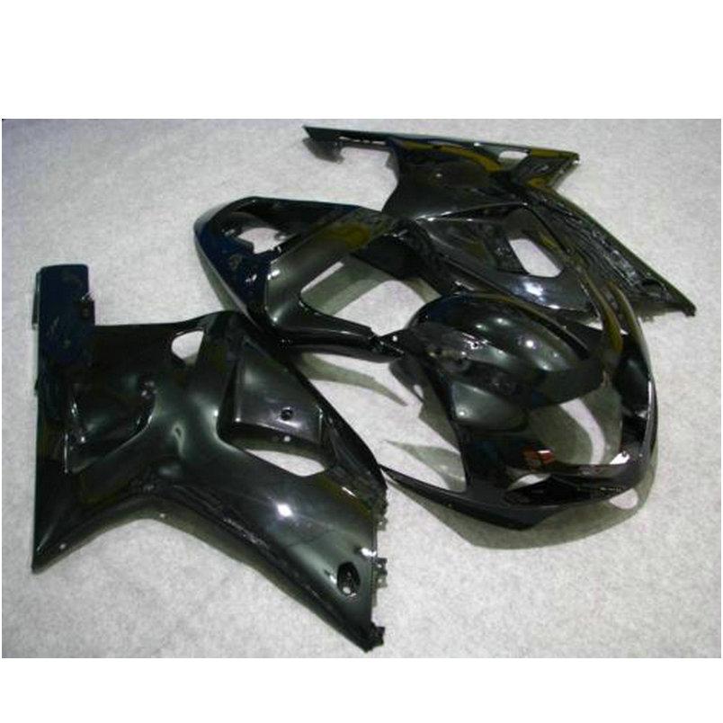 Custom painted Injection fairing set for SUZUKI K1 2001 2002 2003 GSXR600 GSXR750 01 02 03 full black road racing fairings kit(China (Mainland))