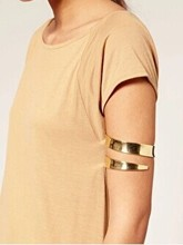 New fashion jewelry metal with gold plated arm bracelet bangle gift for women girl B3260(China (Mainland))