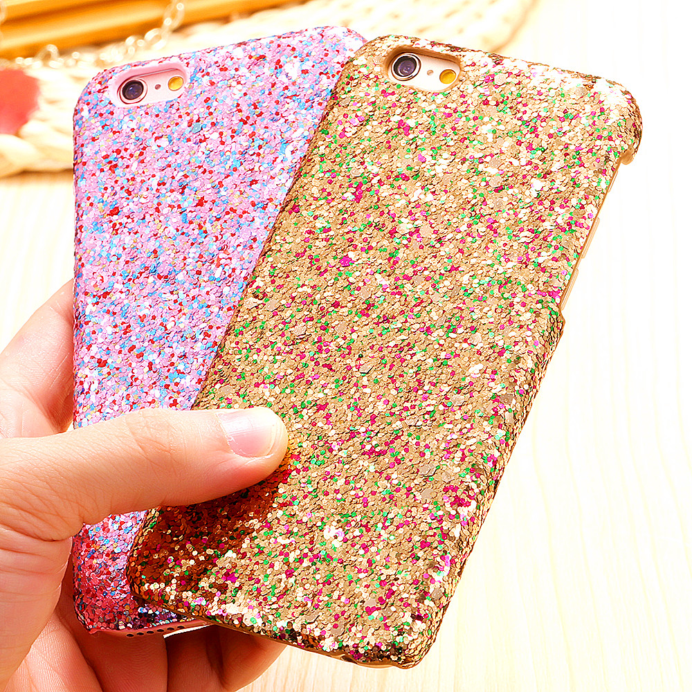 For iphone 6 6s / Plus Hard PC Shinny MultiColor Ultra Thin Case Bling Paillettes Sequins Girly Woman Glitter Armor for iphone6(China (Mainland))