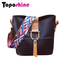 Toposhine 2016 Woman Bag PU Leather Handbag Fashion Composite Bag 5 Color Popular Ribbon Women Shoulder Bag for Young Girl 8668(China (Mainland))