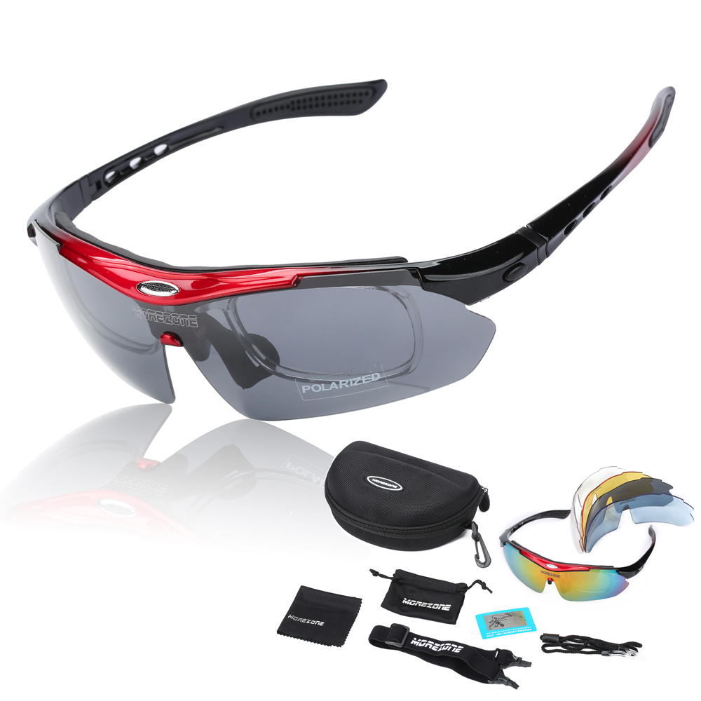 Polarized Cycling Sun Glasses Outdoor Sports Bicycle Glasses Bike Sunglasses TR90 Goggles Eyewear 5 Lens(China (Mainland))