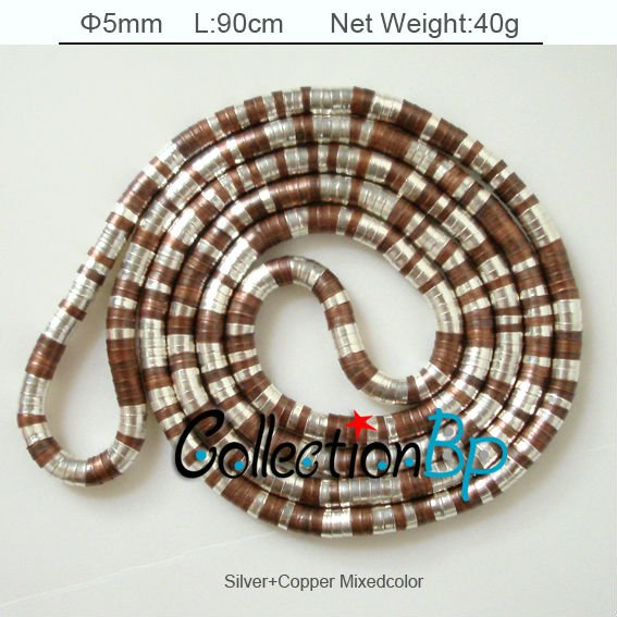 17/pcs Silver+Copper Mixedcolor Bendy Necklace Twistable Flexible Bendable Necklace Bendy Snake Necklace Manufactory Price(China (Mainland))