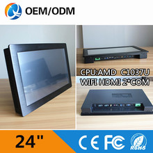 "Buy 24"" Industrial Single Board Computer CPU C1037U /WIFI /2*COM/ RJ-45 / 2GB RAM / 32G SSD Resolution 1920X1080 for $762.13 in AliExpress store"